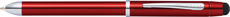 Cross Tech3+ Engraved Translucent Red Multifunction Ballpoint Pen/Pencil AT0090-13