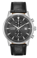 Citizen Eco-Drive Corso Black Dial Stainless Steel Mens Chronograph Watch CA7000-04H