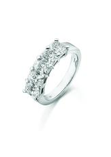 Phoenix Cut Platinum 5 Stone Claw Set 1.78ct Diamond Ring