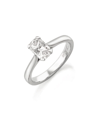 Phoenix Cut 18ct White Gold Solitaire 4 Claw Set 0.33ct Diamond Ring