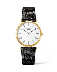 Longines La Grande Classique de Longines White Dial PVD Gold Plated Mens Quartz Watch L47552112