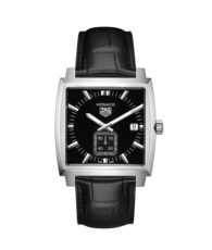 TAG Heuer Monaco Black Dial Stainless Steel Quartz Watch WAW131A.FC6177