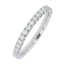 Charles Green & Son Lux Collection Platinum 0.42ct Brilliant Cut Diamond Half Eternity Ring