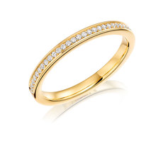 Charles Green & Son Lux Collection 18ct Gold 0.12ct Brilliant Cut Diamond Half Eternity Ring