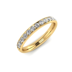 Charles Green & Son Lux Collection 18ct Gold 0.32ct Brilliant Cut Diamond Half Eternity Ring