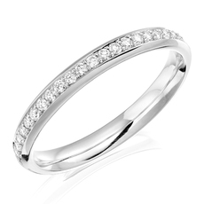 Charles Green & Son Lux Collection Platinum 0.25ct Brilliant Cut Diamond Half Eternity Ring