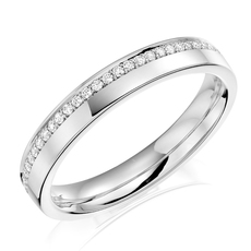 Charles Green & Son Lux Collection Platinum 0.12ct Brilliant Cut Diamond Ring