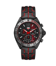 TAG Heuer Formula 1 Black Stainless Steel Ayrton Senna Special Edition Mens Quartz Chronograph Watch CAZ1019.FT8027