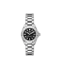 TAG Heuer Aquaracer Stainless Steel Black Dial Womens Quartz 27mm Watch WBD1410.BA0741