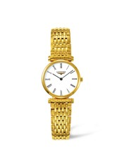 Longines La Grande Classique de Longines White Dial PVD Gold Plated Womens Quartz Watch L42092118