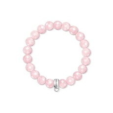 Thomas Sabo Charm Club Rose Quartz & Sterling Silver Bracelet (17.5cm) X0191-034-9