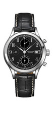 Longines Heritage Classic Chrono Black Dial Stainless Steel Mens Chronograph Watch L28154530