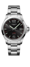 Longines Conquest V.H.P. Black Dial Stainless Steel Mens Quartz Watch L37264566
