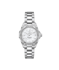 TAG Heuer Aquaracer Stainless Steel Mother of Pearl Dial Womens Quartz 32mm Watch WBD1311.BA0740