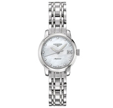 Longines Saint-Imier Collection Mother of Pearl Diamond Dot Dial Stainless Steel Womens Watch L22634876