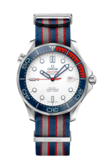 Omega Seamaster Diver 300M Co-Axial Commander's Watch Limited Edition Stainless Steel Mens Watch 21232412004001