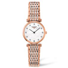 Longines La Grande Classique de Longines Diamond Set Mother of Pearl Dial Rose Two Tone Womens Quartz Watch L42091977