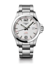 Longines Conquest V.H.P. Silver Dial Stainless Steel Mens Quartz Watch L37264766