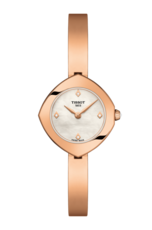 Tissot Femini-T Mother of Pearl Diamond Set Dial PVD Rose Gold Plated Womens Quartz Watch T1131093311600