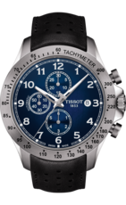 Tissot V8 Blue Dial Stainless Steel Mens Automatic Chronograph Watch T1064271604200