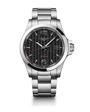 Longines Conquest V.H.P. Carbon Fibre Dial Stainless Steel Mens Quartz Watch L37264666
