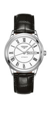 Longines Flagship White Dial Day-Date Stainless Steel Mens Watch L48994212