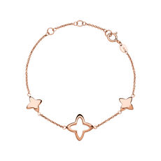 Links of London Rose Vermeil Splendour Four Point Star Station Bracelet 5010.4027