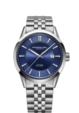 Raymond Weil Freelancer Blue Dial Stainless Steel Mens Watch 2731-ST-50001