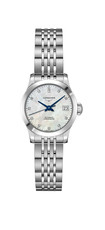 Longines Record Mother of Pearl Diamond Set Dial Stainless Steel Womens Watch L23204876