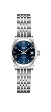 Longines Record Blue Dial Stainless Steel Womens Watch L23204966