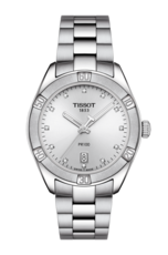 Tissot PR 100 Sport Chic Silver Diamond Set Dial Stainless Steel Womens Quartz Watch T1019101103600