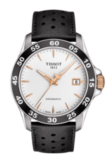 Tissot V8 Swissmatic Silver Dial Stainless Steel Mens Watch T1064072603100