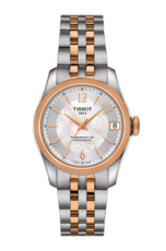 Tissot Ballade Lady Mother of Pearl Dial Two Tone Powermatic 80 COSC Chronometer Womens Watch T1082082211701