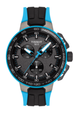 Tissot T-Race Cycling Black & Blue Stainless Steel Mens Quartz Chronograph Watch T1114173744105
