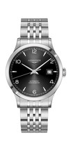 Longines Record Black Dial Stainless Steel Mens Watch L28214566