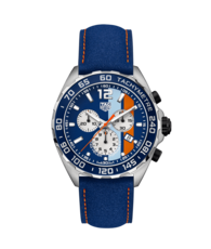 TAG Heuer Formula 1 Gulf Special Edition Stainless Steel Mens Quartz Chronograph Watch CAZ101N.FC8243