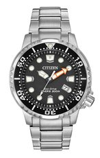 Citizen Eco-Drive Promaster Diver Black Dial Stainless Steel Mens Watch BN0150-61E