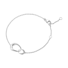Georg Jensen OFFSPRING Sterling Silver Bracelet (Narrow Link) 10012370