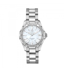 TAG Heuer Aquaracer Stainless Steel Mother of Pearl Dial Womens Quartz Watch 35mm WBD131A.BA0748