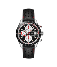 TAG Heuer Carrera Calibre 16 Reverse Panda Dial Stainless Steel Mens Chronograph Watch CV201AP.FC6429