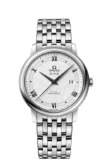 Omega De Ville Prestige Co-Axial Silver Dial Stainless Steel Mens Watch 42410402002005