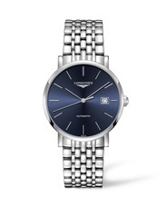 Longines Elegant Collection Blue Dial Stainless Steel Mens Watch L49104926