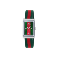 Gucci G-Frame Multi-Colour Mother-of-Pearl Dial Stainless Steel Womens Quartz Watch YA147404
