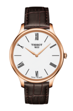 Tissot Tradition White Dial Rose PVD Gold Plated Mens Quartz Watch T0634093601800