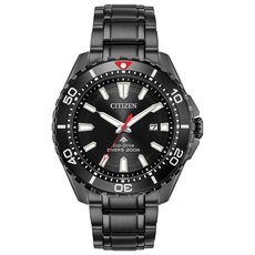 Citizen Eco-Drive Promaster Diver Black Dial Stainless Steel Mens Watch BN0195-54E