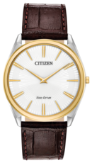 Citizen Eco-Drive Stiletto White Dial Two Tone Mens Watch AR3074-03A