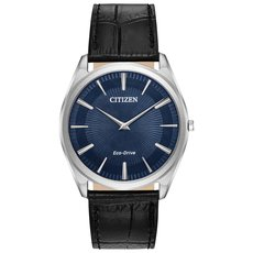 Citizen Eco-Drive Stiletto Blue Dial Stainless Steel Mens Watch AR3070-04L