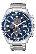 Citizen Eco-Drive Promaster Diver Blue Dial Stainless Steel Mens Chronograph Watch CA0710-82L