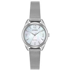 Citizen Eco-Drive LTR Long Term Relationship Mother of Pearl Dial Stainless Steel Womens Watch EM0680-53D