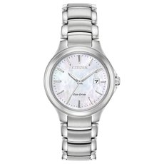 Citizen Eco-Drive Chandler Mother of Pearl Dial Stainless Steel Watch EW2520-56Y